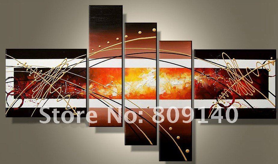 Abstract Wall Art For Office The World Map Painting For Study