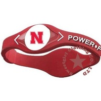 53 Teams NCAA  silicone energy Power force Bands Nebraska Huskers WSU Cougars red Mixed 100pcs/lot