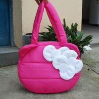 Down bag space cotton bag ete x hello kitty bow handbag women's handbag