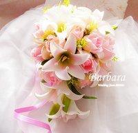 2012 NEW! Wedding/Bridal bouquet Waterfall bouquet Simulation flower Free shipping