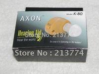Free shipping 30pcs/lot AXON K-80  mini Hearing Aid portable Sound Amplifier medical hearing aid deaf device voice enhancement