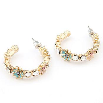 Min Order $10 Popular fashion accessories OL female small enamel flower stud earring brief elegant