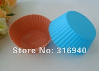 D015  6PCS  Circular Muffin Sweet Candy Jelly Silicone Mould Mold Baking Pan Tray Mak / Cake mold