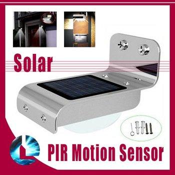 Waterproof IP65 Solar Powered Home Outdoor 16 LED Wall Camping Light PIR Motion Sensor Garden Lamp 3 Model Bright/DIM/Dark