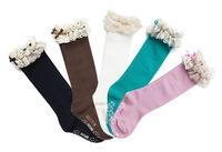 Free shipping+10pairs Girl's Beautiful Toddler Girl's socks 12-19CM,3-8 years Lacing Ruffle bowtie Socks Wholesale