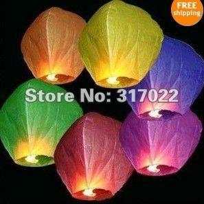 8pcs/lot Kongmingdeng Chinese Fay Balloon Wishing Lamp Paper Sky Candle Xmas Wedding Flying Party Lanterns