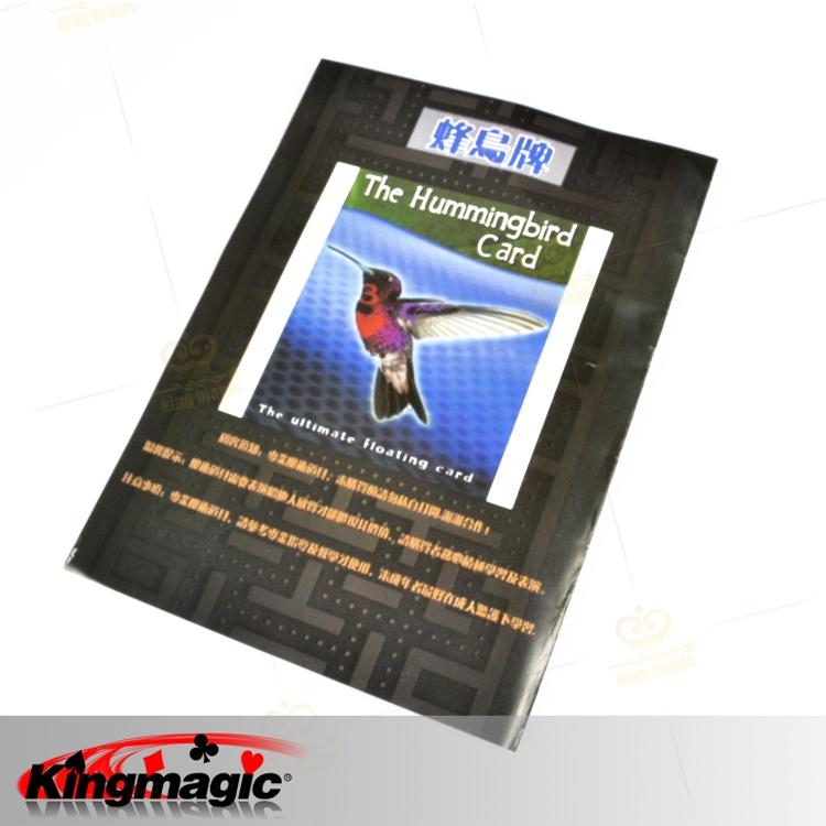 Holiday Sales The Hummingbird Card , Floating UFO Card, magic toys, (hidden line+magic wax+card), magic prop, Free shipping(China (Mainland))