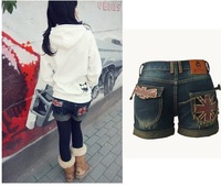 Женские шорты New Spring Candy Color Lady Denim Shorts, Women Jeans Hole Shorts Frayed Hot Pants Denim Short Pants