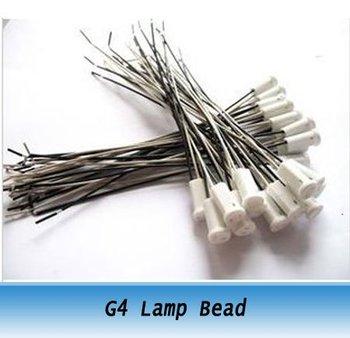 The crystal bulb lamp beads halogen G4 bulb ceramic socket lampholder plug 20pcs