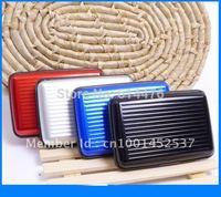 Free shipping 200pcs/Lot Aluminum Wallet/Credit Card Case (Assorted 7 Colors) business card case aluminum wallet