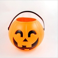 Free shipping--Halloween, Christmas, party supplies /11 cm Pumpkin bucket/Pumpkin props /Pumpkin decorations