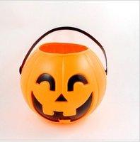 Free shipping--Halloween, Christmas, party supplies /11 cm Pumpkin bucket/Pumpkin props /Pumpkin decorations