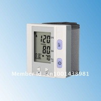 Free Shipping Portable Home Wrist Digital Blood Pressure Monitor, Heart Beat Meter, with LCD Display and 4X30 memories,BP-202N