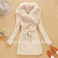 2014 NEW  Free Shipping Women's Wool Long Coat ,Fashion Warm Winter Leisure Wear,Cloak Blends Fur Jacket,XS,S/M/L,XL