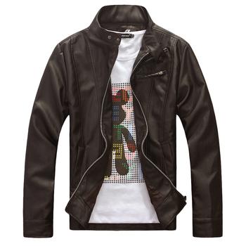 2012 Mens leather jacekt +Men's outwear jacket slim fit , Кожа PU является высокотехнологичным ...