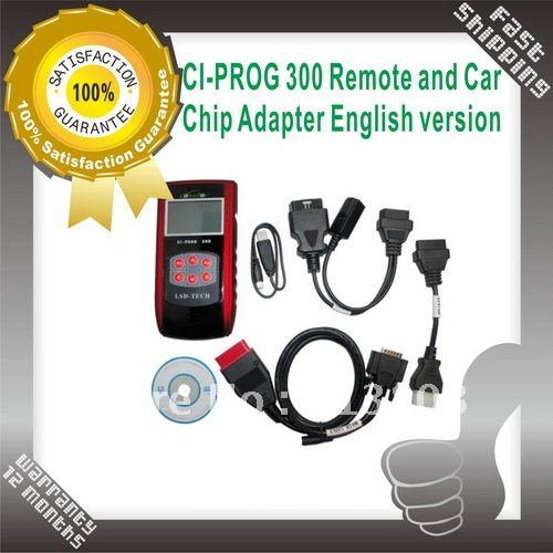 Auto Key Programer CI-PROG 300 Remote and Car Chip Adapter CI PROG 300 key programmer ,ci prog 300 remote (English Version)(China (Mainland))