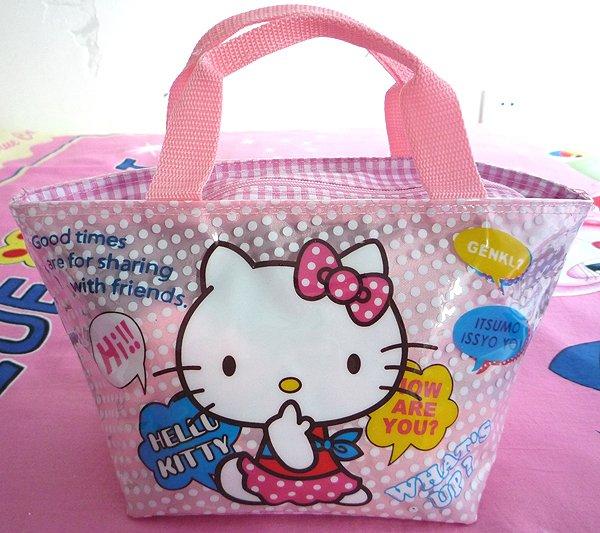 5PC Cute Hello kitty dot bag Girls Handbag for gift #56(China (Mainland))