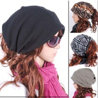 Free Shipping!2012 Hat female autumn and winter male casual lovers toe cap covering cap pile cap multi-purpose turban pocket hat