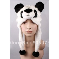 White Baby Clothing Cute Kawaii Animal Panda winter hat Furry Fluffy Plush Earmuff cap Beanie