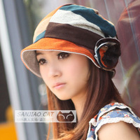 2012 millinery bucket sun hat cap gentlewomen cap summer hat folding free shipping