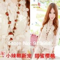 yuri fashion vintage sweet cherry coin necklaceXL416