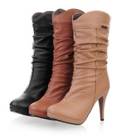 Free Shipping Women Fashion autumn and winter high-heeled Knight boots