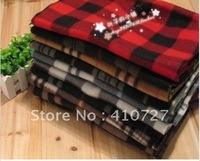 2012 hot fashion warm Scottish fleece plaid scarf free shipping 25pcs/lot