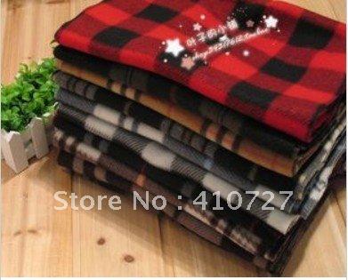 2012 hot fashion warm Scottish fleece plaid scarf free shipping 25pcs/lot(China (Mainland))