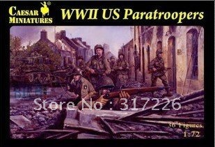 Freeshipping Wholesale Toy Figure Models Caesar WWII US Paratroopers (30pcs)(1:72)(1 inch)