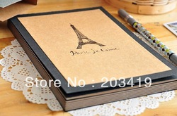 free shipping Eiffel Tower Paris vintage Antique DIY PHOTO ALBUM Scrapbook Paper Crafts baby wedding picture photograph sticker(China (Mainland))