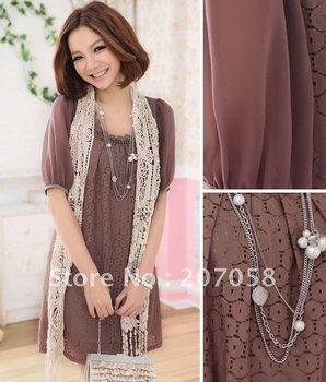 Free shipping ladies fashion plus-size fashion lace dress/women's dress 2012  L XL 2XL 3XL