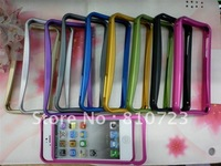New Metal Aluminium Hard bumper frame Case top and bottom Cover for iPhone 5 5Gs 5th,3pcs/lot +Free shipping