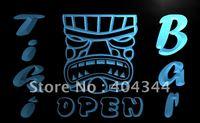 LB324- NEW Tiki Bar Club Mini Bar Mask Neon Light Sign    hang sign home decor shop crafts led sign