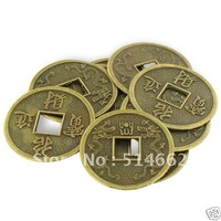 20PCS Feng Shui FORTUNE DIA:3.2CM COINS I Ching Chinese