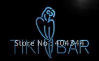 LB331- Tiki Bar Parrot OPEN Display NEW Neon Light Sign    hang sign home decor shop crafts led sign