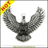 New Arrival Men's Wing Eagle Hawk Stainless Steel Pendant Necklace Free Shipping