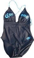 Free shipping Ladies 80%nylon 20%spandex one pieces swimwear Corona Black