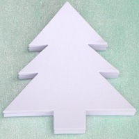 Детская игрушка Www.yhgifts.com 100PCS/LOT.Paper christmas tree card blanks, Kindergarten decoration, Early educational toy, Creativity developing, 15.6x16.2cm