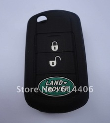 Promotional !!! Free Shipping Eco-friendly Silicone Car Key Case For Land Rover Perfect Christmas Gift (20pcs/lot)(China (Mainland))