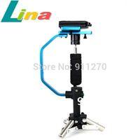 Pro Handheld Stabilizer Camera Support  Rig Tripod Stand + Aluminum Case for DV DSLR Video cameras 5D Mark  II III 7D 550D D90