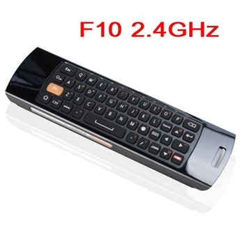 F10 2.4GHz 30m Distance Wirelss Flying Air Mouse+Keyboard+Remote Control for Computer/Smart TV/Android Player-Black