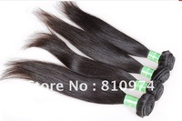 "virgin brazilian hair weft,10""-34"",natural straight ,Free shipping"