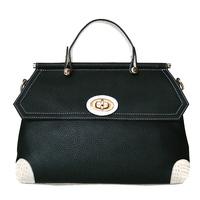 2012 top first layer of cowhide vintage color block handbag cross-body women's handbag genuine leather formal doctor bag