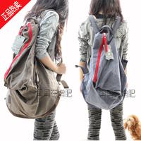 Canvas bag man bag 2012 bag women's handbag backpack travel backpack school bag