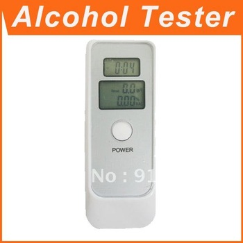 20pcs  Dual LCD Display Digital Alcohol Tester and Timer Analyzer Breathalyzer ! Free Shipping !