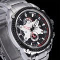 Casima quartz watch steel luminous calendar table male table automobile race table 8207