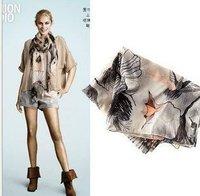 2012 Autumn&Winter Scarves & Wraps fashion fashion print /street style muffler/fashion voile Scarves/  10pcs
