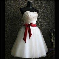 Sweet Princess Sleeveless Ribbon Bridesmaids Dress Pleated Satin Grenadine Cheap Toast Dress Beige Zipper Short Style Ball Gown