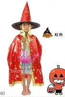 QF-159 children halloween clothes cloak+hat+pumpkin FREE SHIPPING