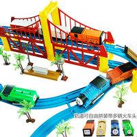 Thomas train track electric toy set double layer train tracks educational toys